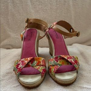 Sperry Top-Sider floral wedge